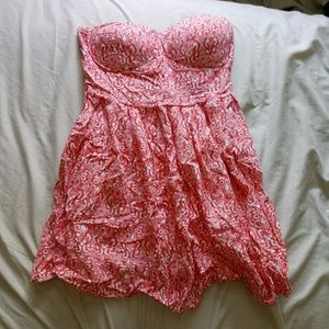 🌼 Pink and white pattern mini dress 🌼
